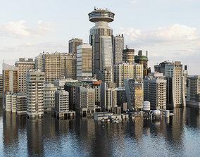 3D asset Building Skyscraper City Town Down Office Work 1
