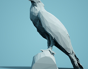 miniatures Low Poly Bird Model