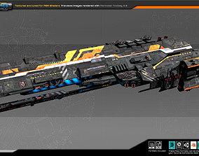 Federation Dreadnought 2A 3D asset