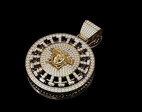 Versace full diamond pendant turnable 3D print model