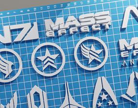 Logos and symbols Mass Effect 3D print model