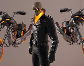 3D model Ghost Rider Fortnite Skin T-Pose RIGGING