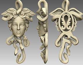zbrush medousa pendant 3D printable model