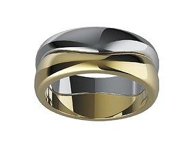 3D print model Double ring platinum
