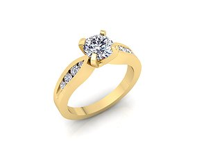 3D print model Solitaire Ring 14