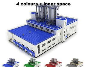 Medium industrial building 31 3D model