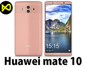 3D model Huawei Mate 10 Pink Gold