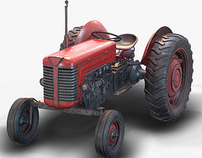 Tractor Low Poly 3D model