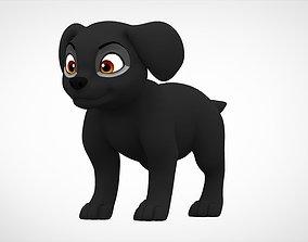 animal Labrador Puppy 3D asset game-ready