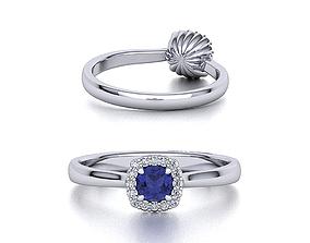 jewelry Unique Halo ring design 3dmodel Cushion halo
