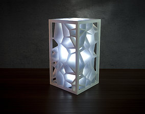 3D print model Generative design Voronoi lamp
