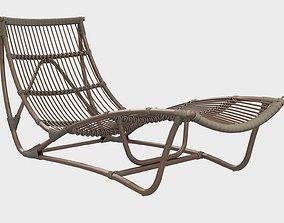 3D model Michelangelo ratan chaise longue Sika Design
