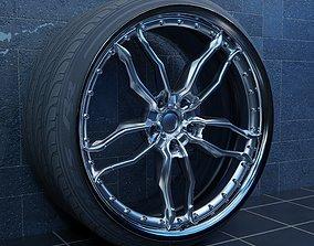 Custom Design Configurable Car Wheel One 3D asset