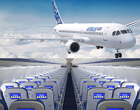 3D Airbus A 320neo commercial