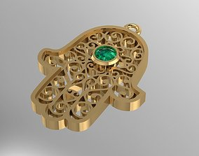 HAMSA hand pendant 3D printable model