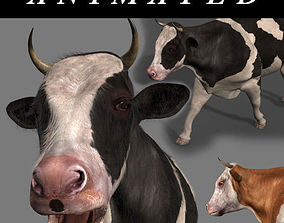 farm Top Cow - 3d model animated