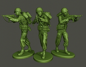 American soldier ww2 Shoot Stand A2 3D printable model
