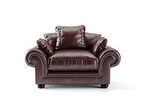 3d Afrique Leather Armchair 3D model