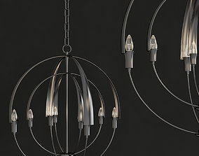 VR / AR ready Double Cirque Chandelier low poly 3d model