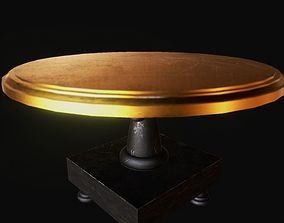 gold top table 3D