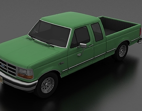 3D model F-150 Pickup 1992 SuperCab Short Box