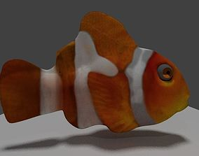 3D asset animated Clownfish