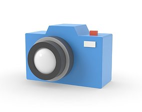 3D model Camera simple design graphic cartoon