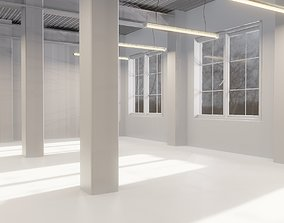 3D model empty ware house or office building