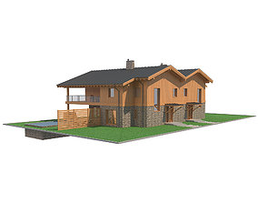 Chalet House 5 3D model