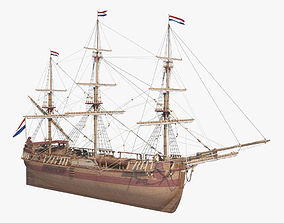 3D model Dutch Galiot
