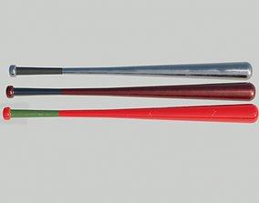 VR / AR ready Baseball bat 3D model PBR Textures 4K