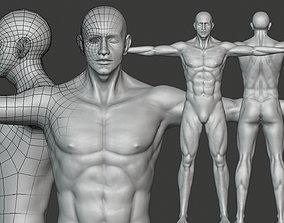 3D asset Realistic Male Body Basemesh