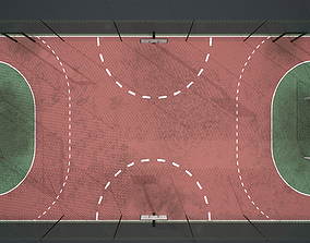 3D model Sport football basketball court