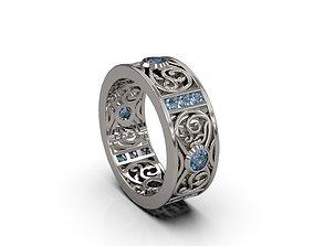 3D printable model Woman Celtic Band Ring 87