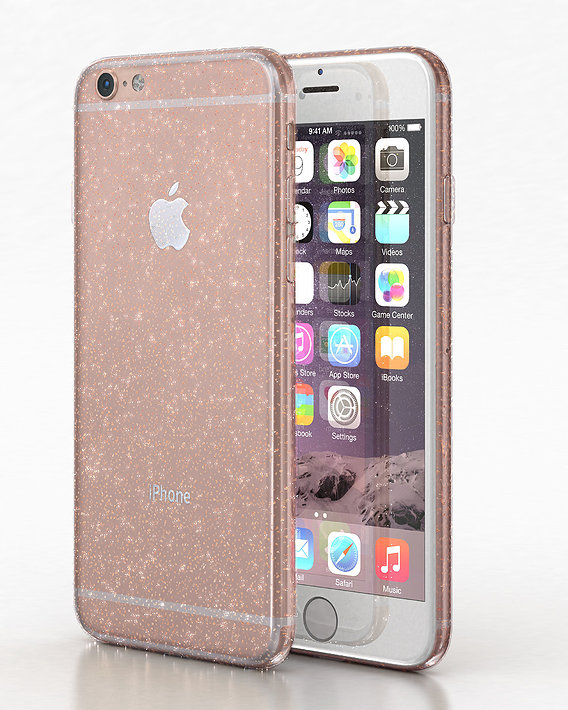 Apple iPhone 8 soft cases glitter cover