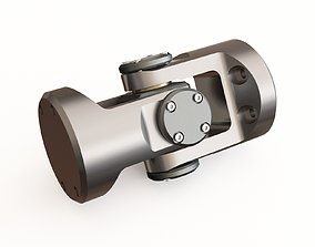 3D model rods Universal joint