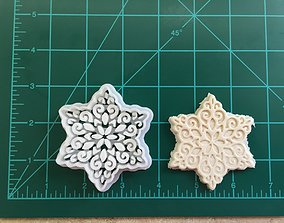 Intricate Snowflake Cookie Cutter 3D print model
