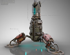 3D model Sci-Fi Cyberpunk Beacon