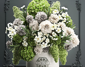 3D Bouquet of flowers in a gift box 90