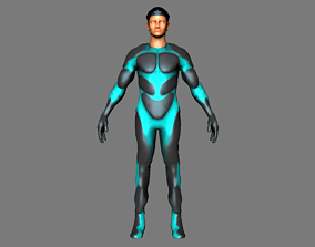 character man sci fi 02 rigged 3D model