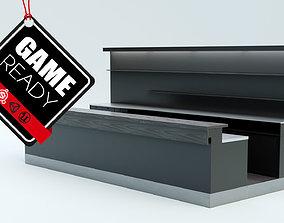 Bar Counter 3D asset low-poly