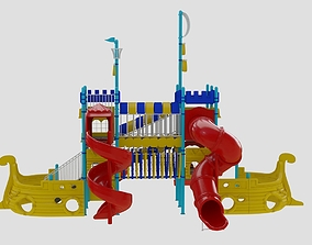Kids and Children Ship Playground FBX OBJ 3DS Max