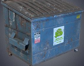 3D asset Industrial dumpster
