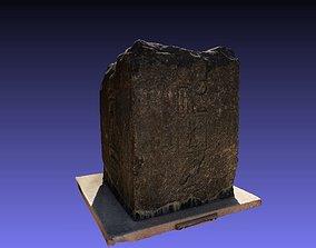 3D part of obelisk black granite