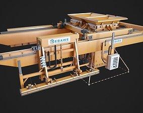 Concrete plant machine 3D print model