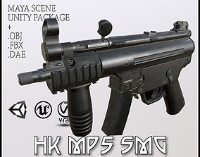 3D asset HK MP5 SMG LowPoly-GameReady