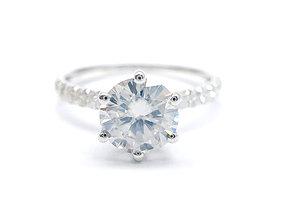 3DM Art deco diamond band ring for her