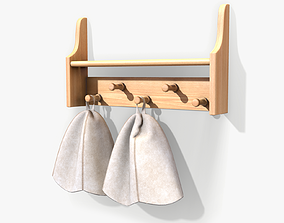 3D model Sauna Shelf and Hats