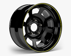 Stock Car Wheel 3D