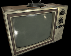 Vintage TV 3D model VR / AR ready